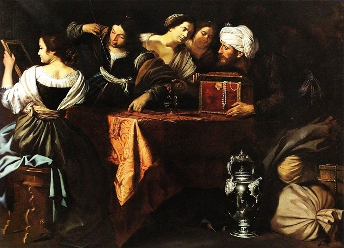 Улисс находит Ахилла при дворе царя Ликомеда. А. Джентилески, 1641 год. | Фото: gallart.by.